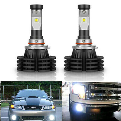Pair 9140 9145 H10 9005 LED 100W CREE 6000K White Fog Light Driving DRL Bulbs