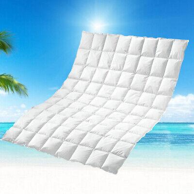 100% sibirische Sommer Daunen Bettdecke Sommerdecke Sommerbett 155x220 380g 60°