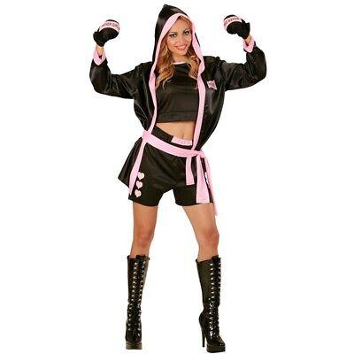 Medium Ladies Boxer Girl Costume - Widmann 73961adult Womens Top Shorts Jacket