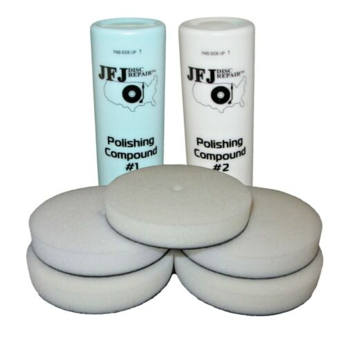 JFJ EASY PRO Supply Pack 2 - 2x Polishing Compound Solution & 5 Buffing Pads