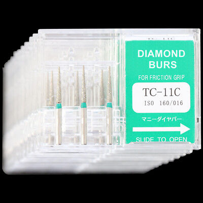 10 Boxes Tc-11c Dental High Speed Handpiece Diamond Burs Mani Dia-burs Fg 1.6mm