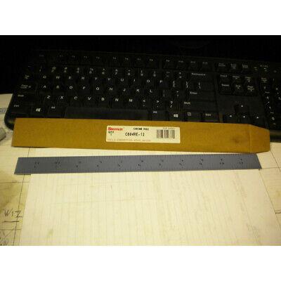 Starrett C604re-12 Spring Temp Steel Rule Winch Grads 4r Style