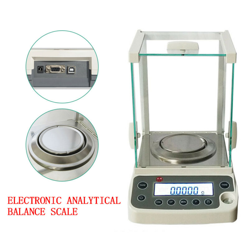 Lab Digital Precision Scale 110V Analytical Balance 0.1mg 120x0.0001g+AC adapter