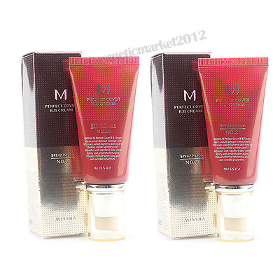 MISSHA M Perfect Cover BB Cream 50ml #21 2pcs Free gifts wholesale