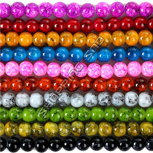 Top-Quality-Czech-Glass-Round-Loose-Spacer-Beads-Abstract-Colors-4mm-16mm-DIY