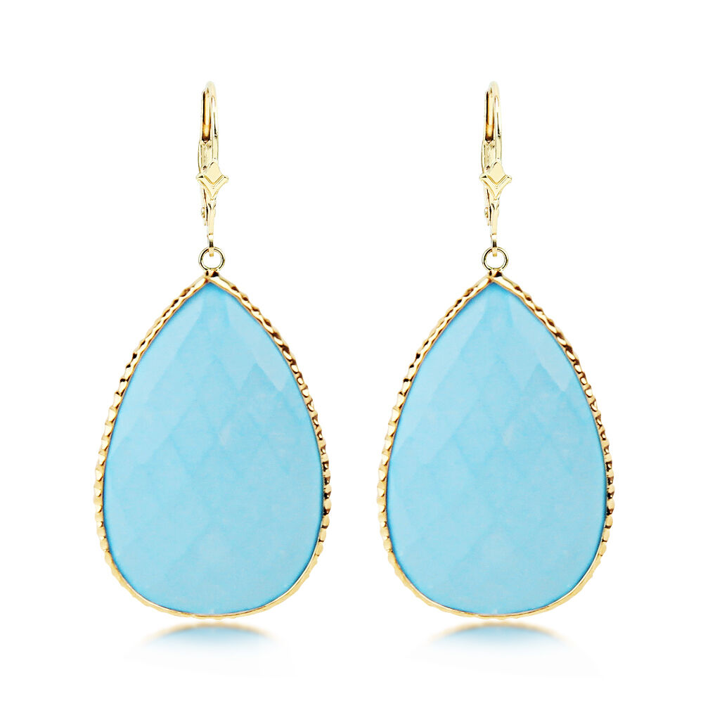 14k yellow gold gemstone earrings with pear shaped. Black Bedroom Furniture Sets. Home Design Ideas
