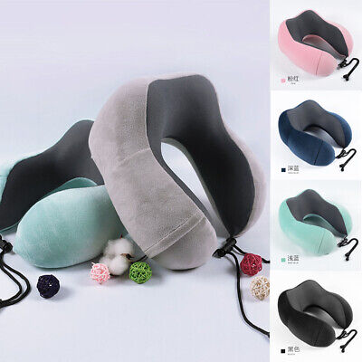 Memory Foam Neck Support Large U Shaped Travel Pillow Car Seat Cushion Best