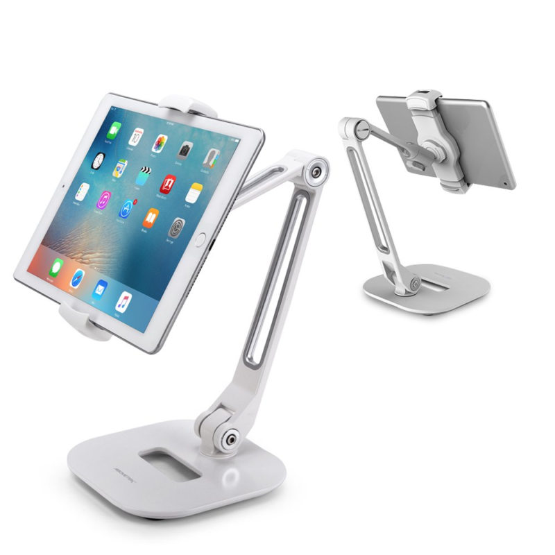 AboveTEK Long Arm Aluminum Tablet Stand, Folding iPad Stand