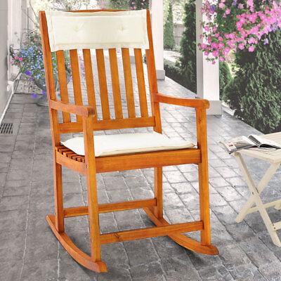 Möbel Schaukelstuhl (Schaukelstuhl Gartenstuhl Schwingsessel Liegestuhl Gartenmöbel Stuhl Akazie Holz)