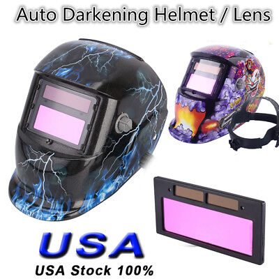 Pro Solar Auto Darkening Welding Helmet Tig Grinding Welder Lens Usa