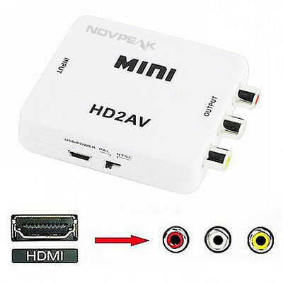 Mini Composite 1080P HDMI to RCA Audio Video AV CVBS