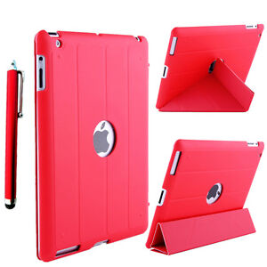Red-Y-Smart-Leather-Cover-back-hard-soft-case-for-The-new-iPad4-iPad3-iPad2