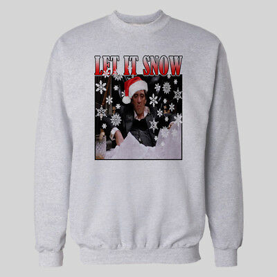 SCARFACE TONY MONTANA LET IT SNOW XMAS SWEATER SOLDSKOOL  Shirt *MANY OPTIONS*