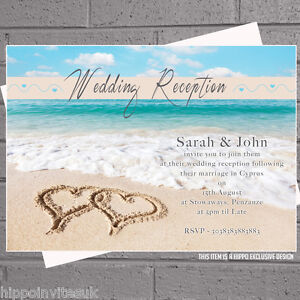 beach wedding invitations  ebay, Wedding invitations