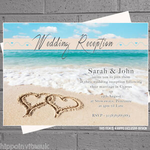 Beach Wedding Invitations eBay