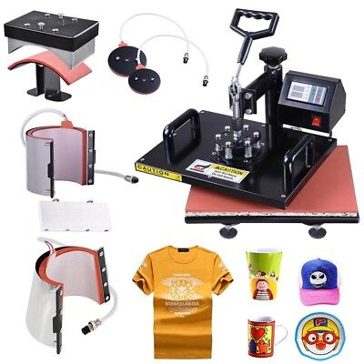 12x15 6in1 Digital Heat Press Machine T-Shirt Mug Cap Plate Transfer Sublimation