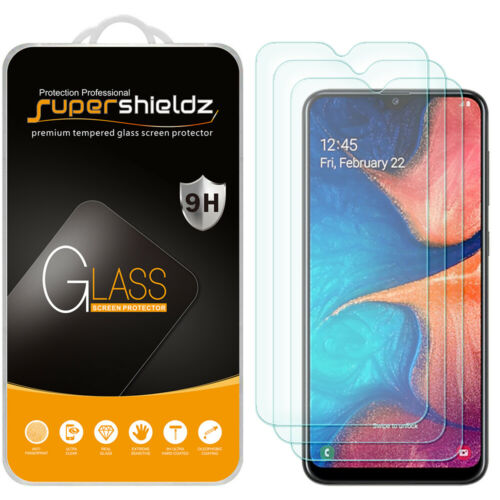 [3-Pack] Supershieldz Tempered Glass Screen Protector for Samsung Galaxy A20
