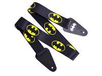 DC Comics Batman Logo Fabric Guitar Strap (Officially licensed DC Comics merchandise)