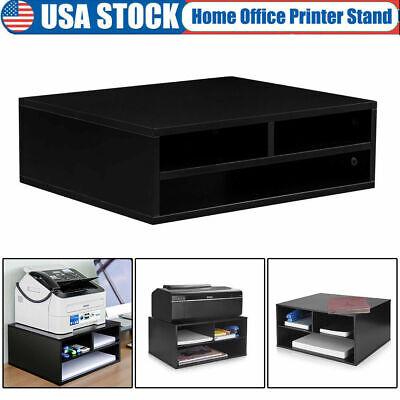 Printer Stand With Storage Shelf Holderworkspace Desk Organizer For Home Office