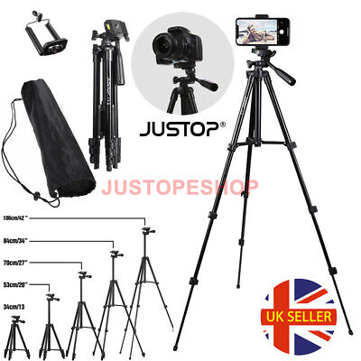 Universal Camera Phone Tripod Stand Telescopic Holder For iPhone Samsung Sony UK
