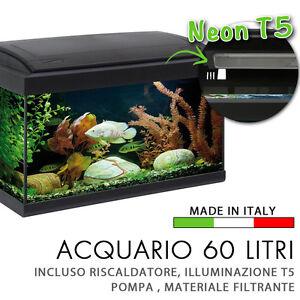 acquario 60x30x34cm 60 litri completo di filtro pompa