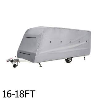 AUS FREE DEL-16-18FT 4 Layers Open Caravan Campervan Cover Straps