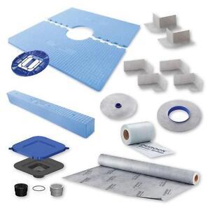 shower base durock base system kit 48 x 48 or 32 x 60