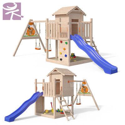 Spielturm Gigantico Baumhaus Kletterturm Sandkasten XL-Rutsche 1,20m Podesthöhe