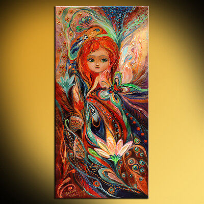 My fiery fairy Gwendolyn fantasy art Elena Kotliarker best gift for little