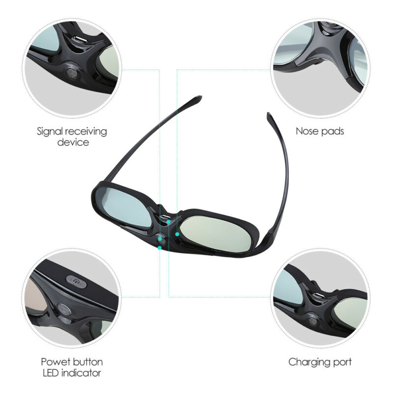 Wireless Home Theater 3D Brille DLP-Link Active Shutter Glasses Für Projector