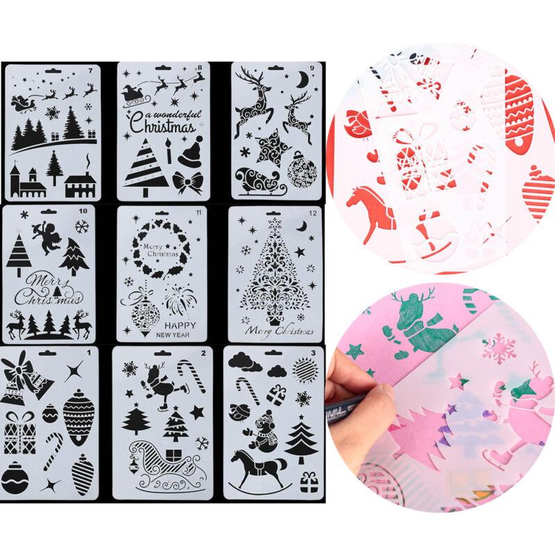 prägung frohe weihnachten scrapbooking paintingtemplate schichtung schablonen