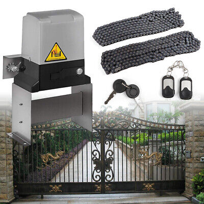 Sliding Electric Gate Opener Automatic Motor Driveway Security Kit 1500KG 550W