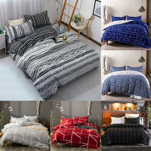3pcs duvet cover set printed soft comforter