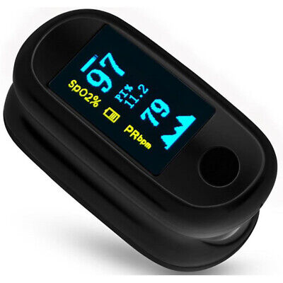 Portable Finger Clip Oximeter Usb Charing Blood Oxygen Monitor For Home Travel