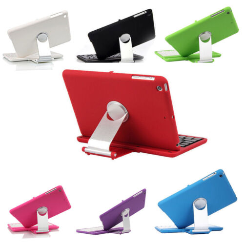 360 Rotating Stand Case Cover With Bluetooth Keyboard For Ap