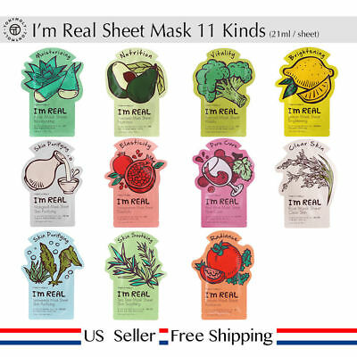 Tonymoly Im Real Mask Sheet 21Ml 11 Pack  Us Seller Fast Shipping