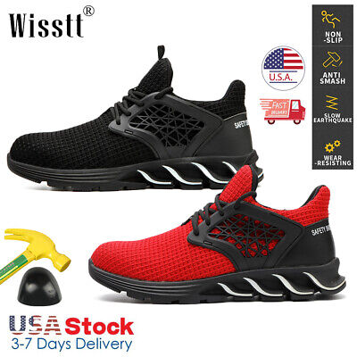 Mens Work Safety Shoes Steel Toe Boots Indestructible Hiking Sneakers Industrial