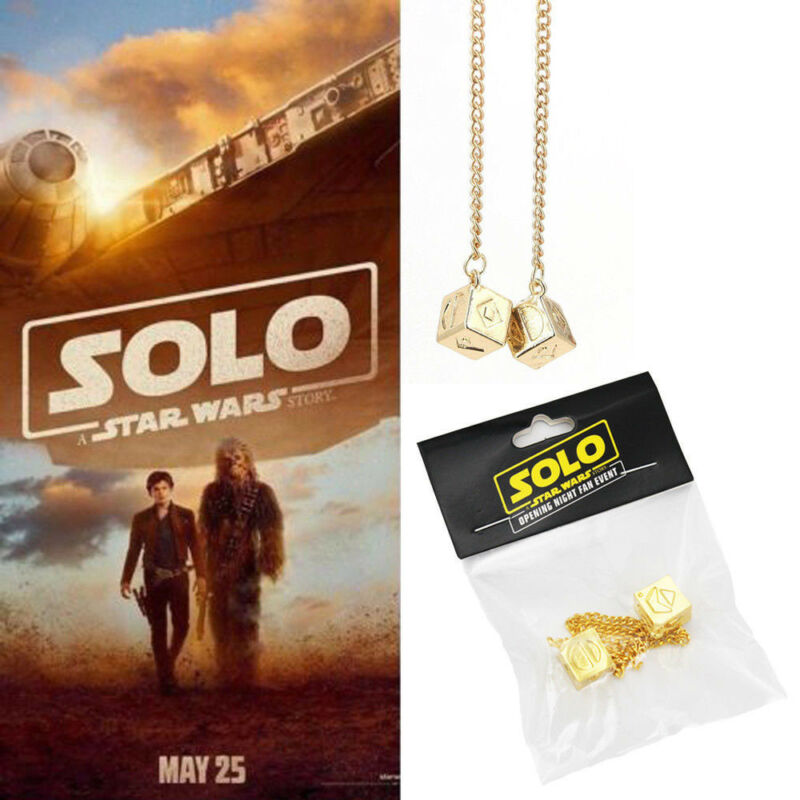A Star Wars Story Han Solo Dice Sabacc Lucky Dice Millennium Falcon Cosplay Prop