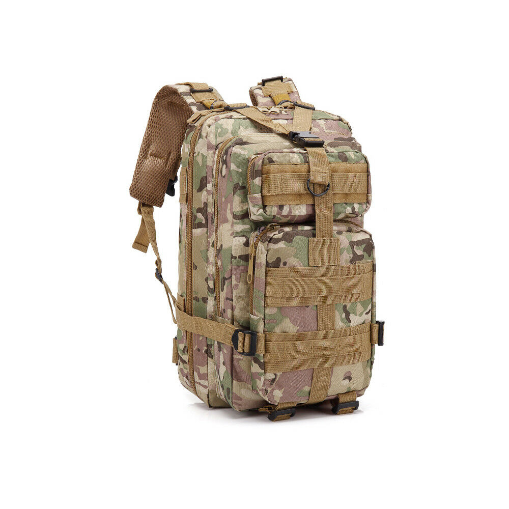 30L Outdoor Neutral Adjustable Military Tactic Backpack Rucksacks Hiking Travel CP