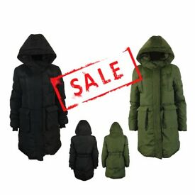 FREE DELIVERY AMAVISSE UK- NEW Women Clothes Winter Fashion Puffy Puffer Long Parka Jacket with Hood