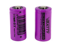 CR 123a 3v 1200 mAh rechargeable RCR Li-Ion 16340 ROHS CE CR17335 new 2x