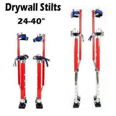 Red 24-40 Inch Drywall Stilts Aluminum Tool Stilt For Painter Walking Portable