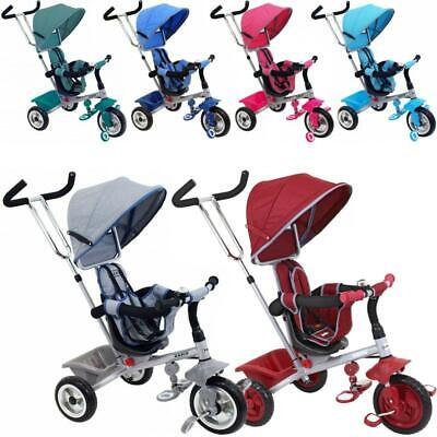 Dreirad Schiebedreirad Kinderdreirad zum schieben mit Schiebe und Lenkstange Neu