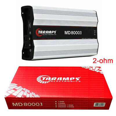 Taramps MD 8000.1 2 Ohms Amplifier 8000 Watts RMS 1 Channel  comprar usado  Enviando para Brazil