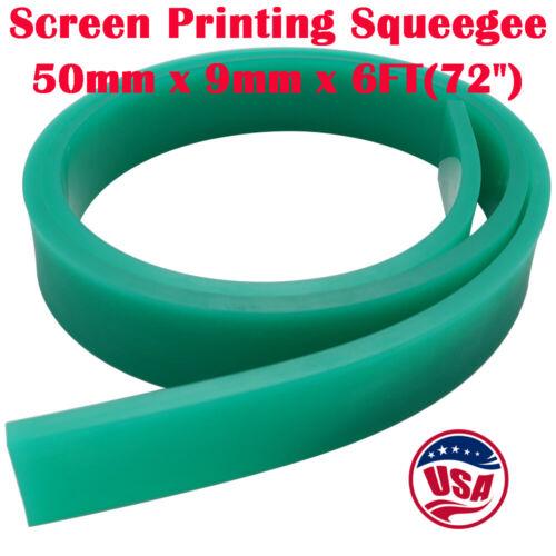 "USA 6FT 72"" Silk Screen Printing Squeegee Blade 70 DURO Polyurethane Rubber"
