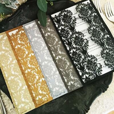 Pretty Party Paper's Laser Cut Wedding Invitation Samples, Choose Design & Color (Pretty Paper)