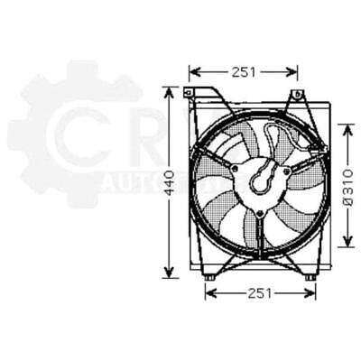 Fan Engine Cooling Radiator Fan Blower Motor for Kia Rio II Notchback