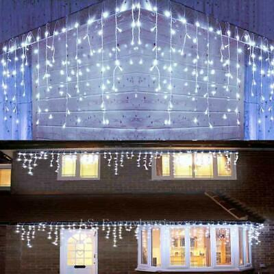 13-130FT Curtain Icicle Lights Wedding LED Fairy Christmas Indoor Outdoor Decor ()