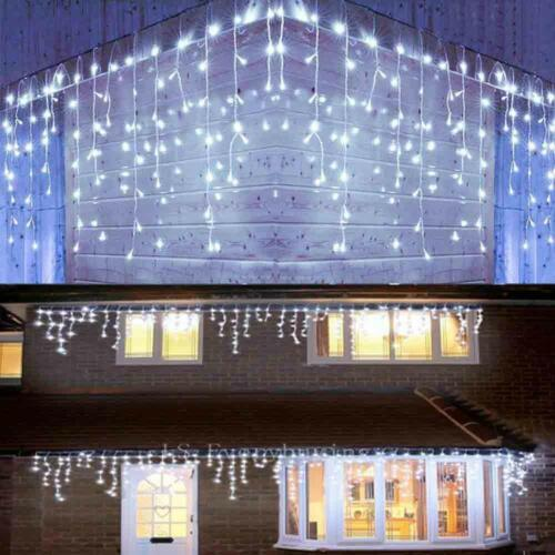 13-130FT Curtain Icicle Lights Wedding LED Fairy Christmas I
