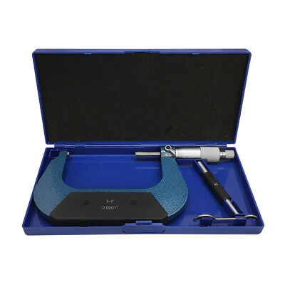 3-4'' Outside Micrometer Solid Metal Frame 0.0001'' Graduati